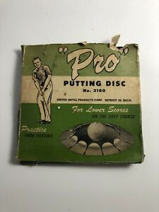 Vintage-golf-putt-hole-034-Pro-034-Putting-Disc-No-2100-Good-Used-Condition-USA