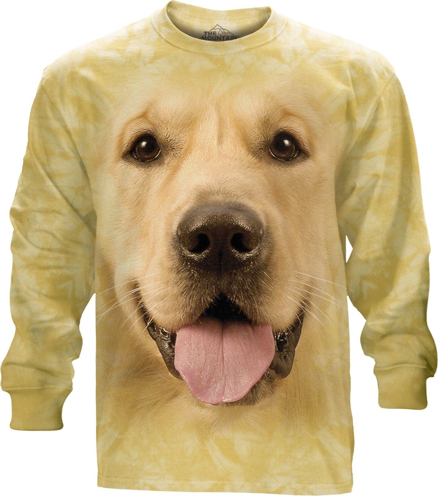 La MONTAGNA adulto grande faccia cane d'oro maniche lunghe T T T Shirt 2f1552