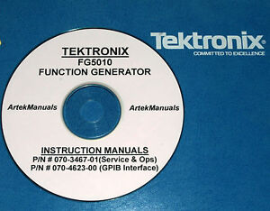 TEK FG5010 SERVICE AND OPERATION MANUALS (2 volumes)