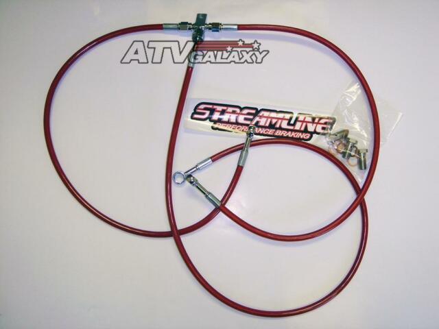 "STREAMLINE 3/"" FRONT BRAKE LINES LINE KIT ATV CLEAR YAMAHA WARRIOR 350 1990-2004"