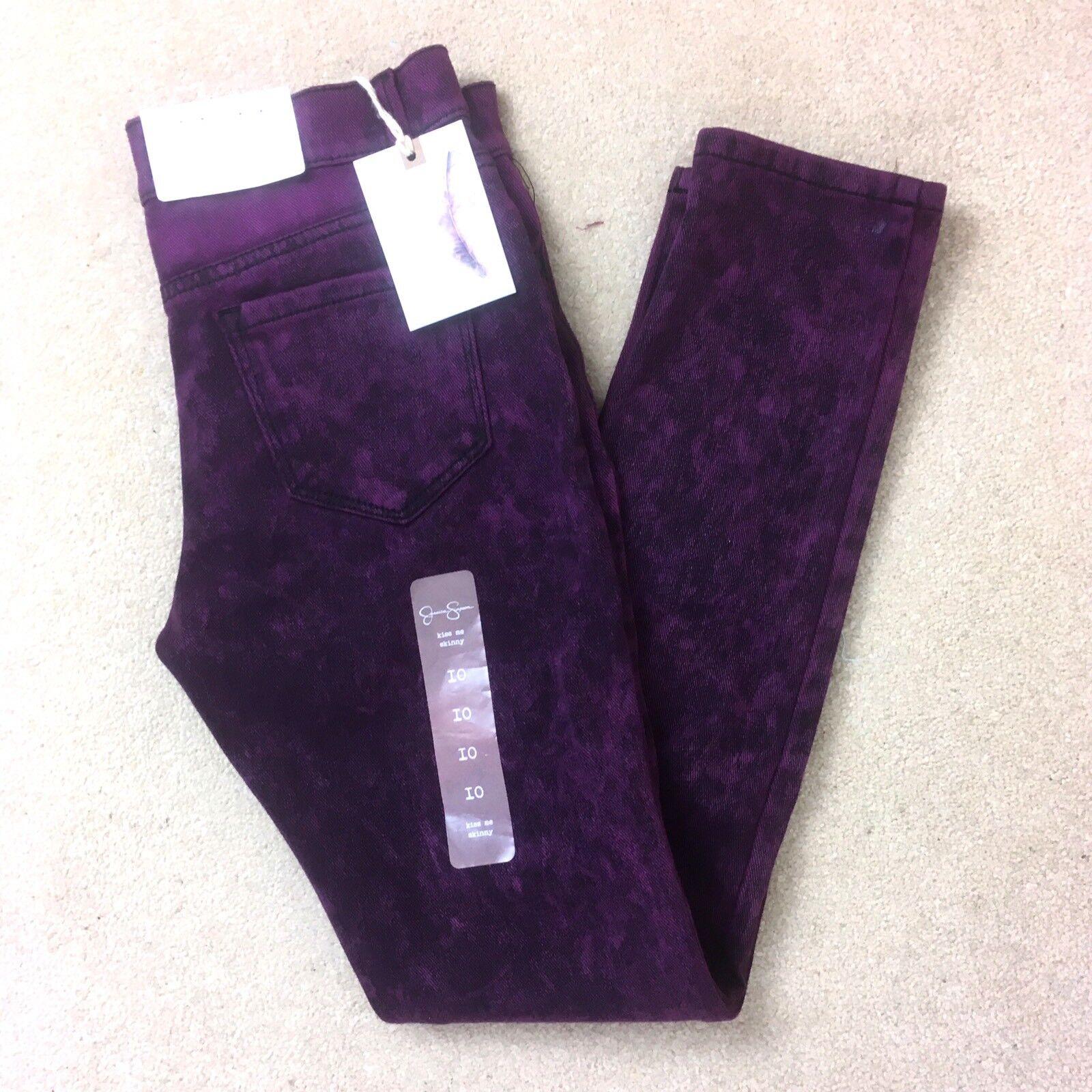 Jessica Simpson Jeans Jeggings Stretch Purple Kiss Me Skinny  Size  10 R