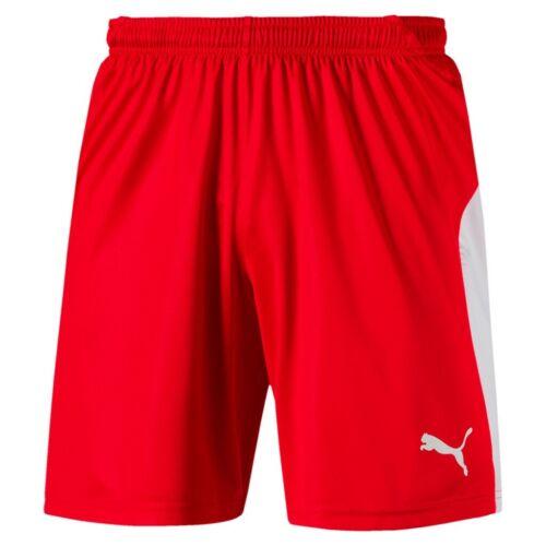 PUMA LIGA Shorts Herren Fußball-Shorts Rot-Weiss