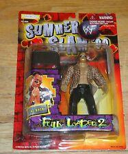 1999 WWF WWE Jakks The Rock Dwayne Johnson Wrestling figure MOC Leopard shirt