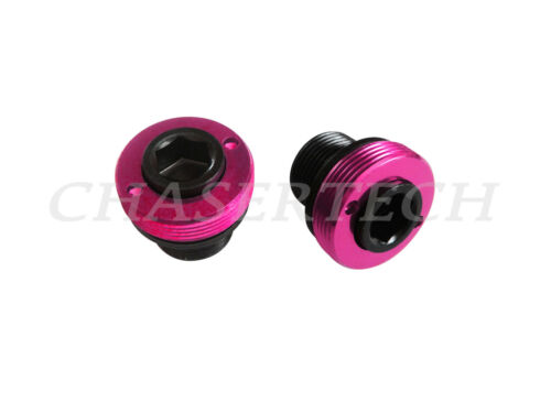 New MTB Road Bike M15 ISIS Cr-Mo Bottom Bracket Crank Axle Bolts Black//Hot Pink