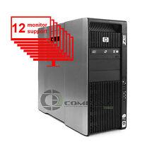 HP Z800 12-Monitor Multi-Display Computer 8-Core/1TB + 256GB SSD/ NVS 450/Win10