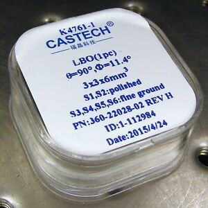 NEW-CASTECH-LBO-CRYSTAL-3-x-3-x-6-mm-for-DPSS-LASER-SHG-frequency-doubling