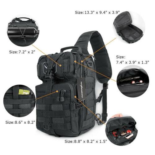 Military Tactical Sling Backpack Army Molle Waterproof EDC Rucksack Bag Outdoor