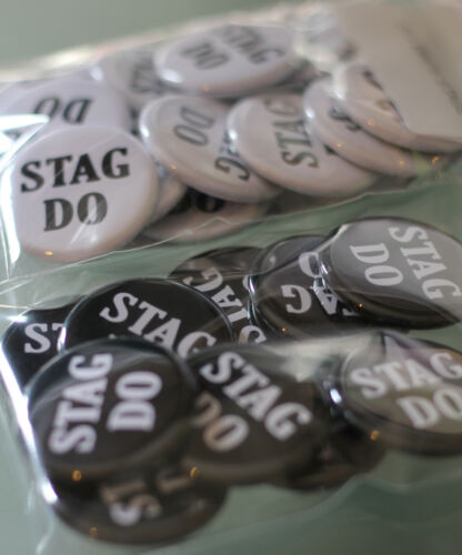 CHOOSE SIZE /& COLOUR Stag Night Badges Stag Party Badges STAG DO Badges
