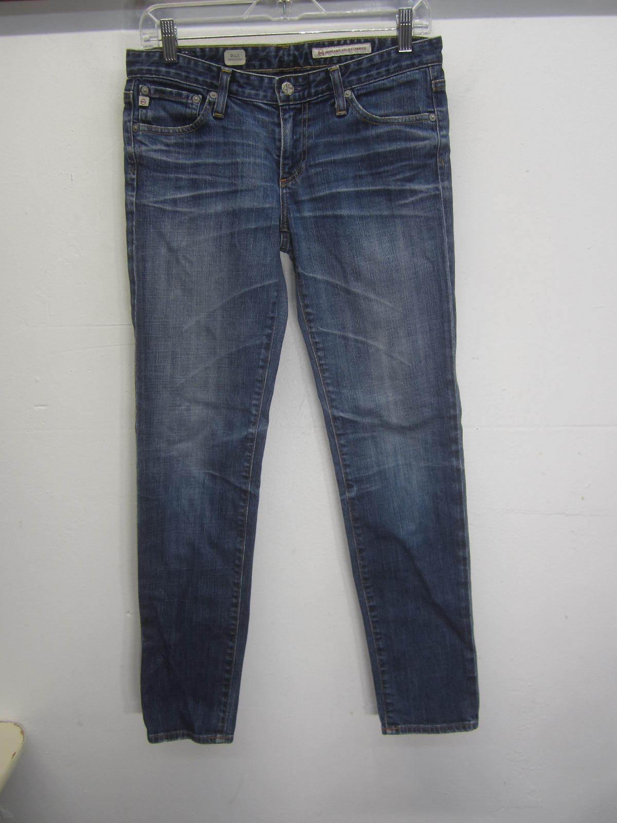 Vtg Adriano goldschmied bluee Jeans Stilt cigarette leg medium wash sz 28R