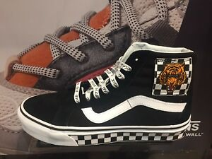 Vans Sk8 Hi Tiger Pack Japan Black White Checker Suede New Men Sz 8 ... 6e3cc6002e2b