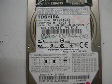"Toshiba 40gb MK4026GAX FKN5GA A5A000465 2,5"" IDE"