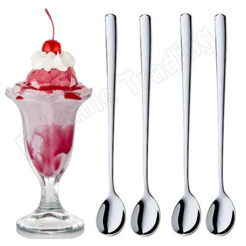 Stainless Steel Soda Glacier Latte Coffee Sundae Ice Cream Tea Cocoa Spoon Long