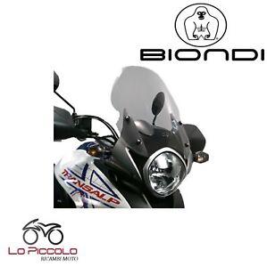 Pare-Brise-Biondi-Moto-Mod-Gust-Fumee-039-Clair-Honda-Transalp-700-2010-2011-2012