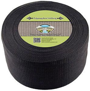 Country Brook Design® 4 Inch Black Heavy Polypro Webbing, 5 Yards