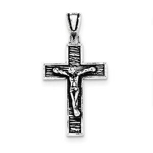 925 Collar Cruz de Plata en Caja De Presentación