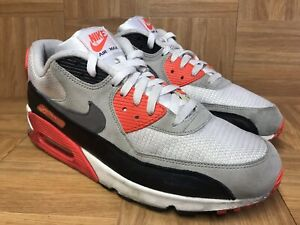 newest c0414 38336 Details about RARE🔥 Nike Air Max 90 OG Infrared White Cement Gray 2015  725233-106 Sz 12 Men's
