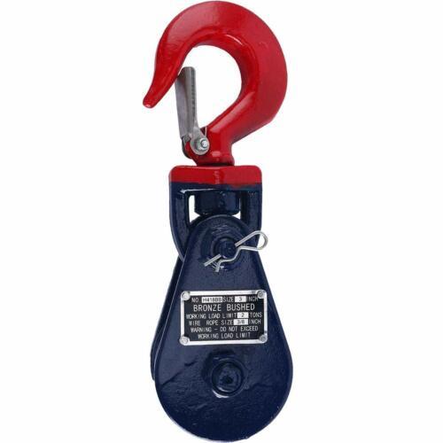 """Hook Snatch Block 4 ton Medium Duty 4.5/"""" Wheel with Swivel Hook Pulley"""
