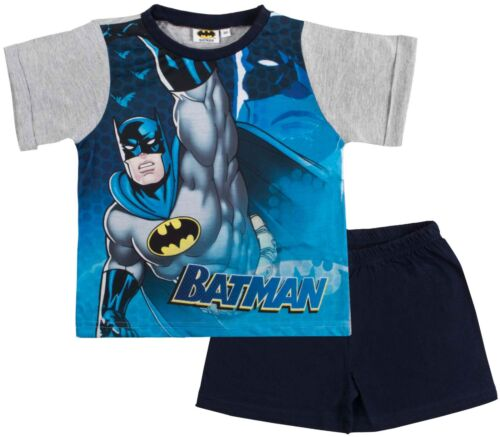 Batman Boys Short Pyjamas PJ/'s Set Superhero Character Size UK 4-10 Years