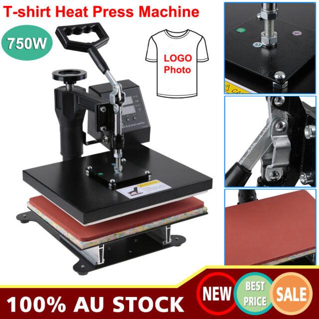 "12"" Heat Press Transfer T-Shirt Uniform DIY Sublimation Printing Machine 750W AU"