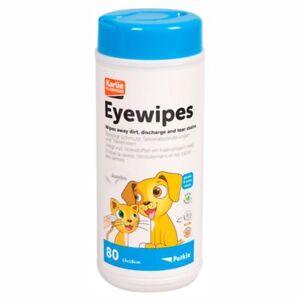 Petkin 537862- Jumbo Tücher Ohrentücher Augentücher Hundepflege 80 Stk
