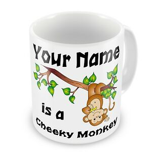 Personalised-Cheeky-Monkey-Any-Name-Novelty-Gift-Mug-Naughty-Rude-Brand-New