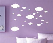 Set of 22 x CLOUDS cloud decal sticker vinyl wall art nursery kids child room