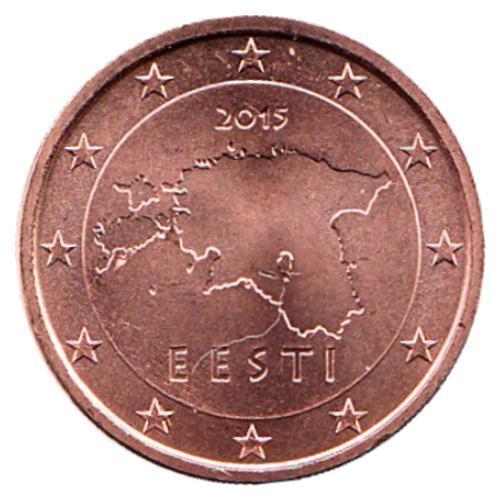 ESTONIA 1 /& 2 Eurocent roll 2015 uncirculated// unopened