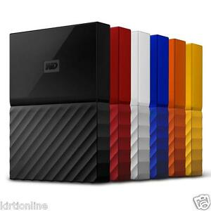 WD 4 TB My Passport Lumen Portable External Hard Disk-(Black,ORANGE,Blue)