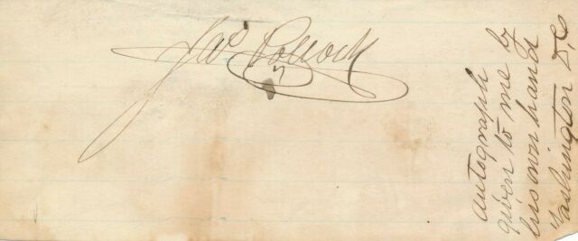 James Pollock - Signature of the Governor of Pennsylvania