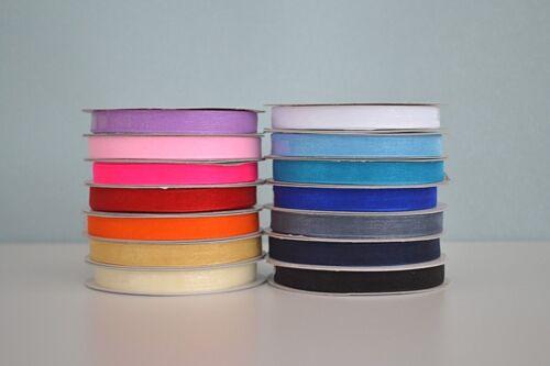 Variedad De Colores elige color Cinta de organza 10mm X 50 yrds