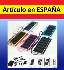 CARGADOR y bateria portatil SOLAR emergencia usb mp3 mp4 movil iphone cable