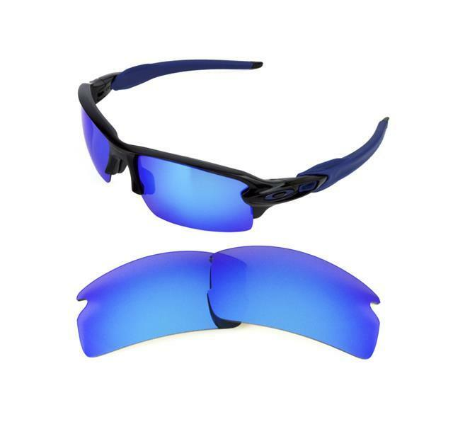 a8798306436 Polarized Replacement Ice Blue Lens for Oakley Flak Jacket 2.0 Sunglasses