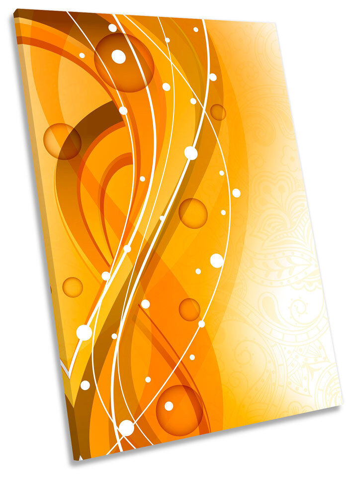 Honey Curve Abstract Framed CANVAS WALL ART Picture Print