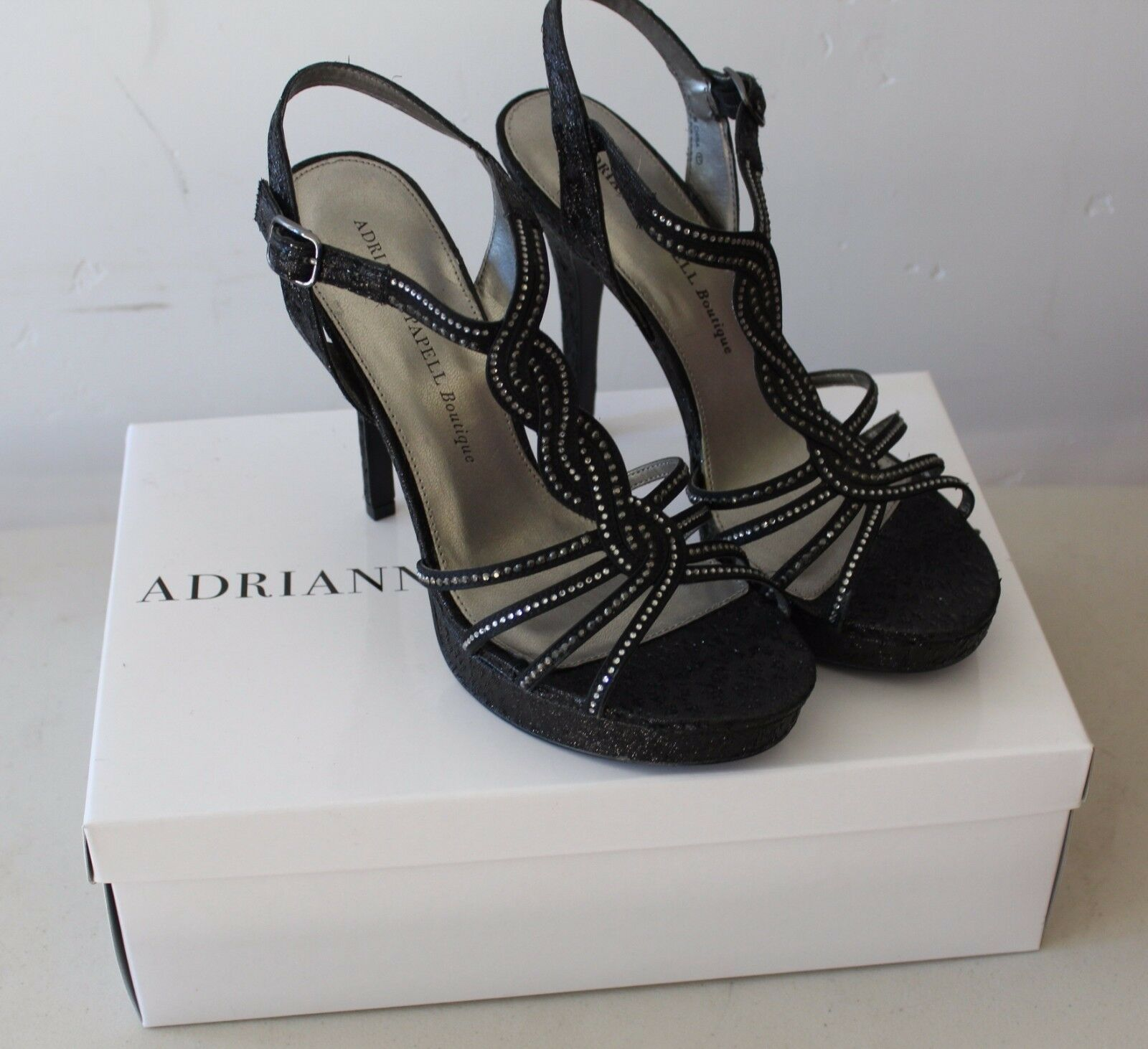 grande sconto ADRIANNA PAPELL nero Open Toe Heels Mandy Sz 9M 9M 9M NWB  S13  acquista marca