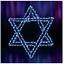 Jewish-Hanukkah-Star-of-David-Outdoor-LED-Lighted-Decoration-Steel-Wireframe thumbnail 1