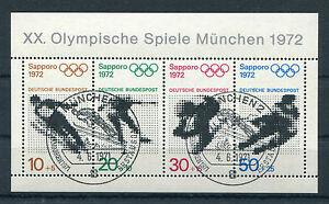 Bund-Block-6-gestempelt-ESST-Muenchen-BRD-684-687-Olympische-Spiele-used