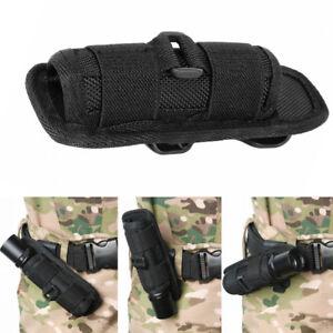 Rotation-Nylon-LED-Flashlight-Torch-Holster-Holder-Belt-Case-Bag-Pouch-Black