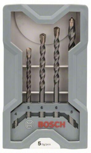 4-8 mm Bosch 2607017080 Betonbohrer CYL-3 Set Silver Percussion 5-teilig