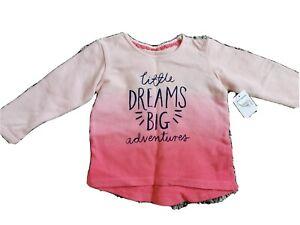 Baby Girls Matalan Pink Floral Ruffled Cap Sleeve T-Shirt Age 9-12 Months