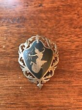 Vintage Siam Niello Sterling Silver Dancing Goddess Brooch/Pin