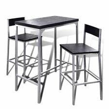 Vidaxl Set Tavolo e 2 Sedie Alti da Colazione di Acciaio | Acquisti ...