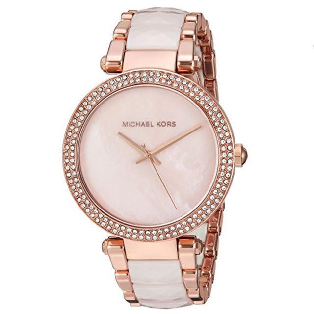 Michael Kors Women S Parker 39mm S Steel Bracelet Rose Gold Watch