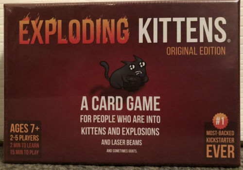 EXPLODING KITTENS Original Edition Card Game New /& Sealed
