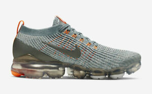 722968016d NIKE MENS AIR VAPORMAX FLYKNIT 3 PEWTER ORANGE AVIATOR GREY AJ6900 ...