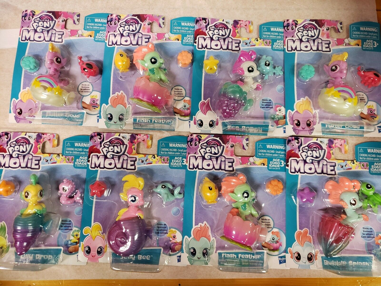 My Little Pony 8 pc Lot Baby Sea Pony Pony Pony and Hippogriff Set  New in factory box  73722f