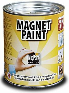 Magnetic Paint MagPaint Water Based Emulsion Dark Grey for Wood Metal Plaster