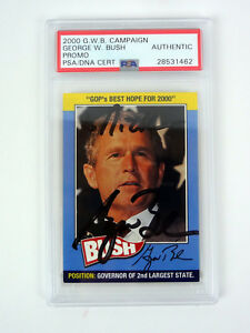 George-W-Bush-President-2000-Campaign-Promo-Card-Signed-Autograph-PSA-DNA-COA