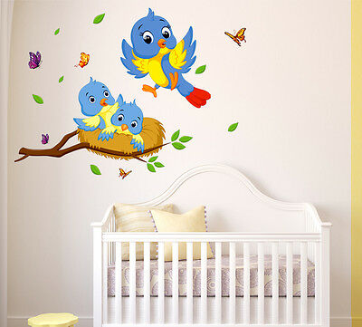 6400017 | Wall Stickers Happy Birds Family Wall Decor For Kids Room
