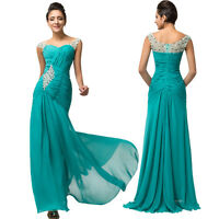 Long Chiffon Prom Bridesmaid Evening Party Formal Cocktail Wedding Gown Dress