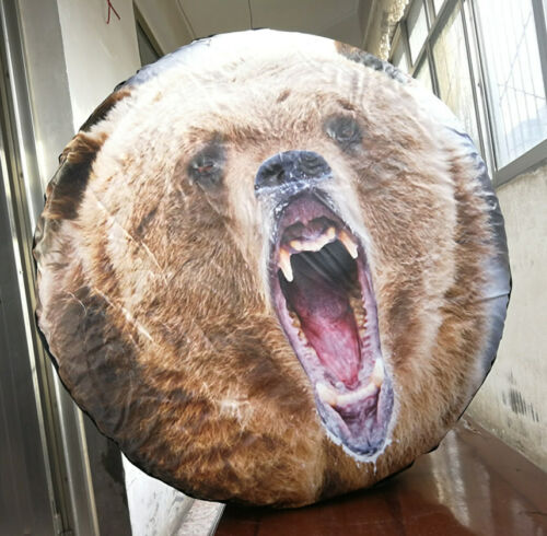 """16/"""" Spare Wheel Tire Cover With 3D Brown bear Easy Install Protector 29-31/"""""""